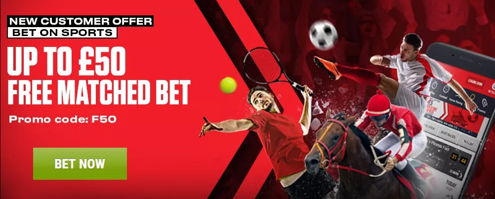 Free bets banner offer
